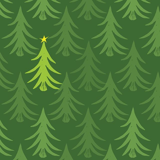 The search for the MOST perfect tree, pattern. . . . . . . #womenofillustration #illustratorofinstagram #graphicdesign #patterndesigner #artlicensing #blockprinting #illustrator #artist #christmas pattern #cutepattern