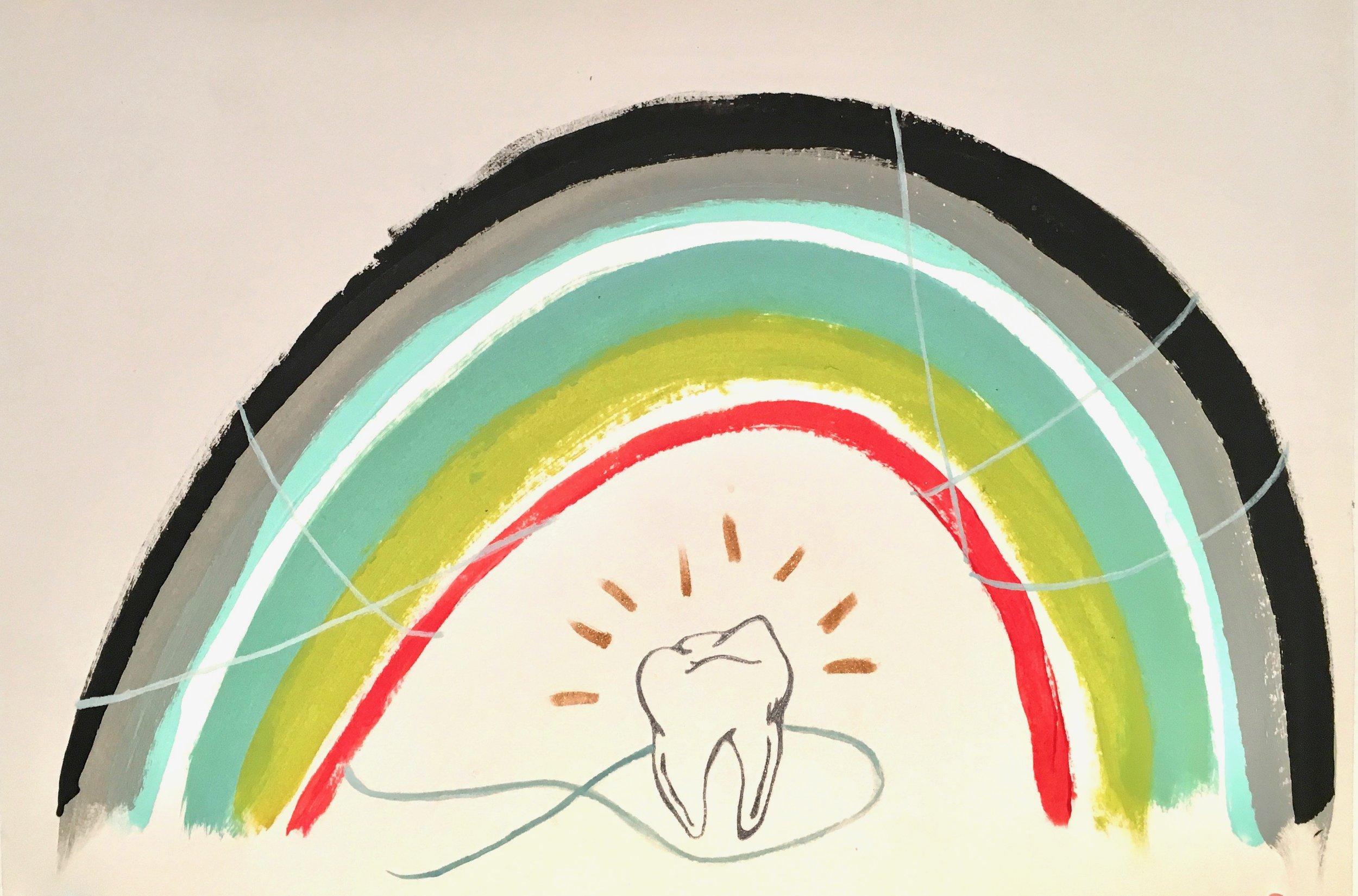 Rainbow of Dental Hygiene (inspired by Patti Smith)