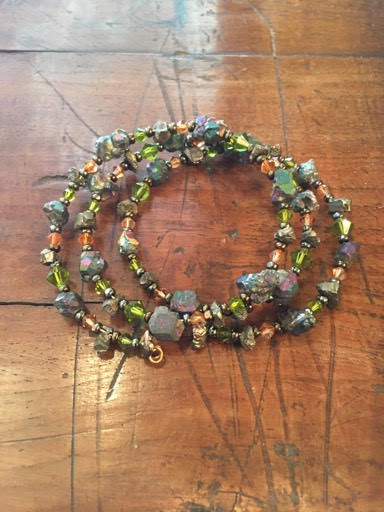 Upscale memory wire bracelet.