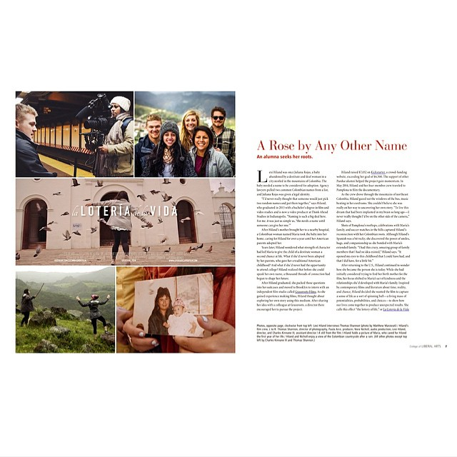 "Thanks to Jill Bosserman and Purdue CLA for featuring ""A Rose By Any Other Name"", a beautifully written article on the film for their online magazine!  @lifeatpurdue #adoption #shareyourstory #loteriafilm #vscocam @tedxpurdueu"