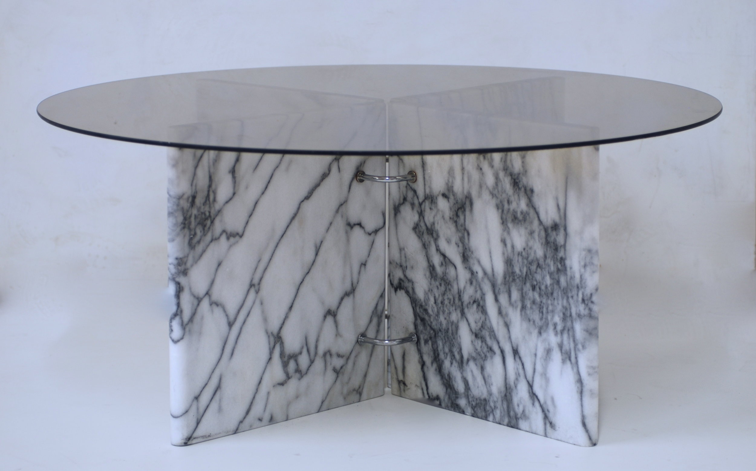 Low Carrara Square Or Rectangular Or Round Glass And Marble