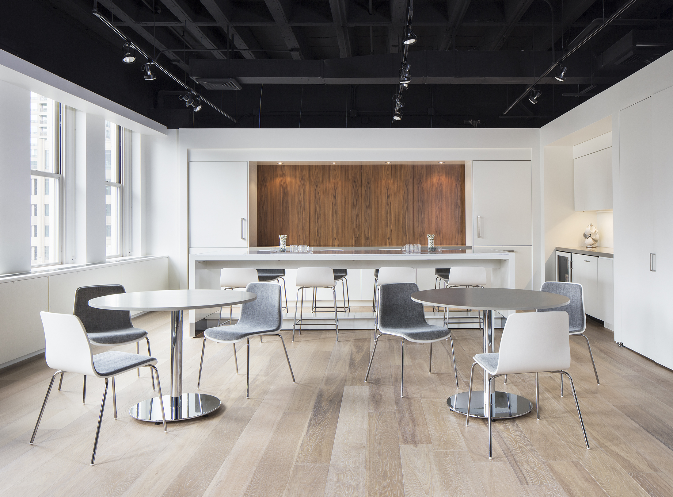 Brushed Canvas on Andaz cafe seating | HBF Showroom - NeoCon 2015