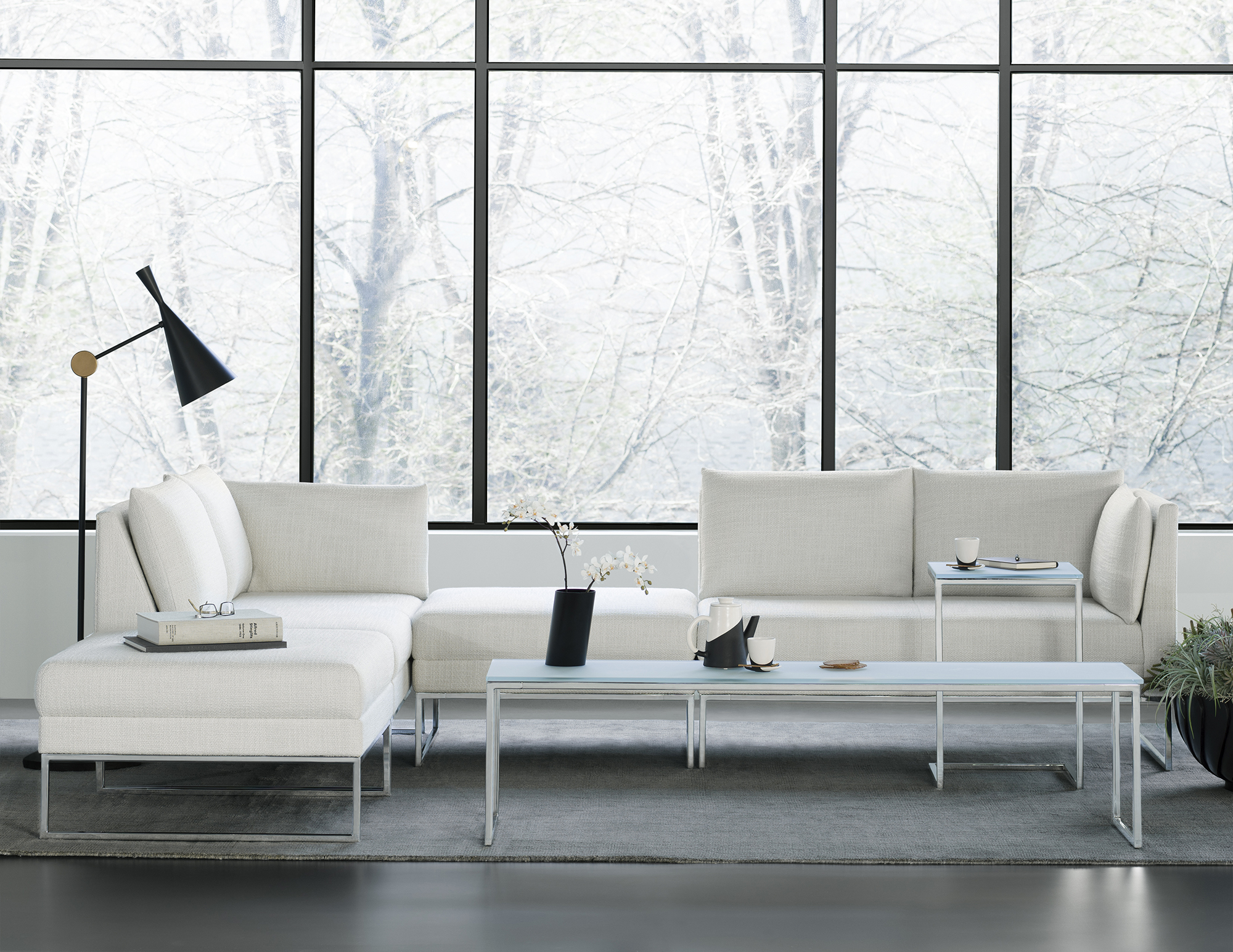 CALM IN SITU SECTIONAL WITH TABLES