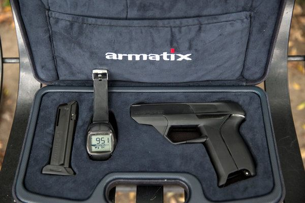 "The iP1 the first ""smart gun"" for sale in the United States.   Credit Monica Almeida/The New York Times"