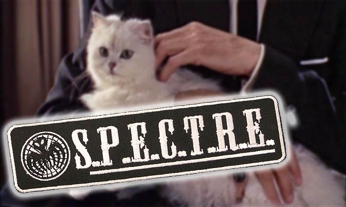 Even the Fluffy White Evil Kitty is part of Blofeld's brand.