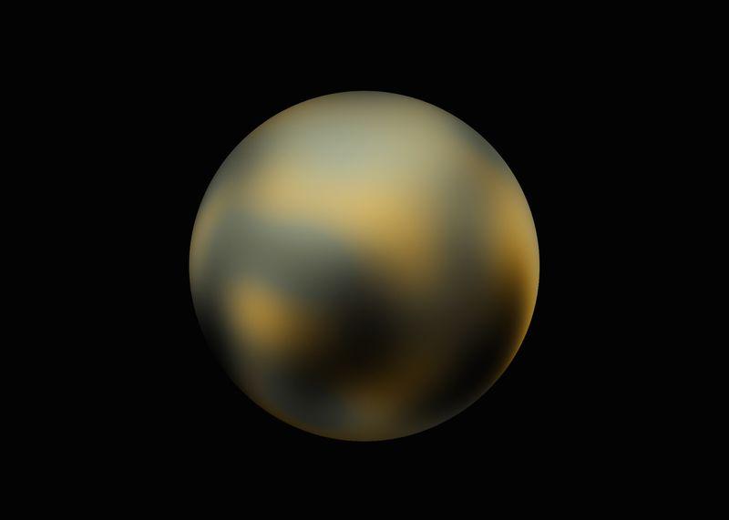 Pluto, Hubble Image, 2010, NASA