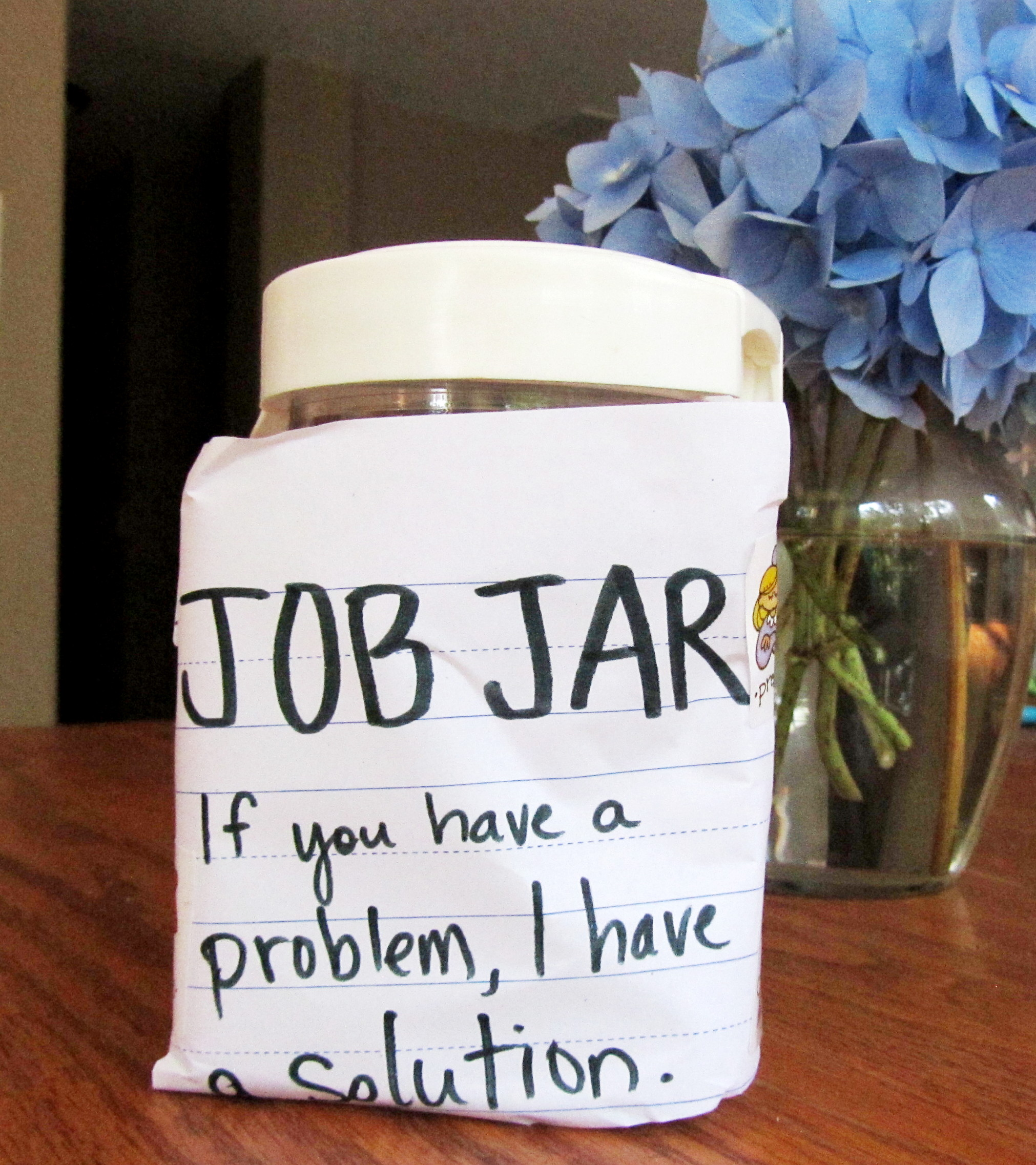 Stolen from http://www.lightbulbbooks.com/blog/2013/11/job-jar-for-tots/