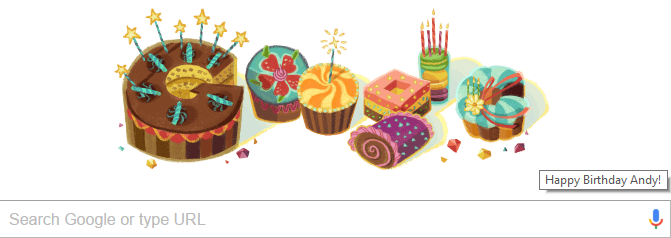Google gave me a doodle for my birthday,