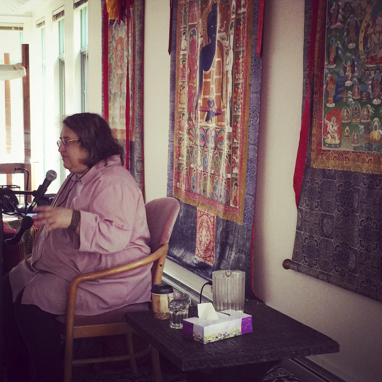 Sharon Salzberg leading meditation