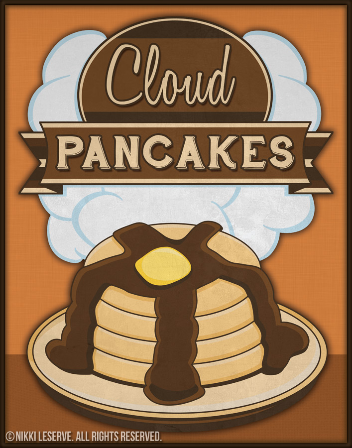 Cloud Pancakes Poster
