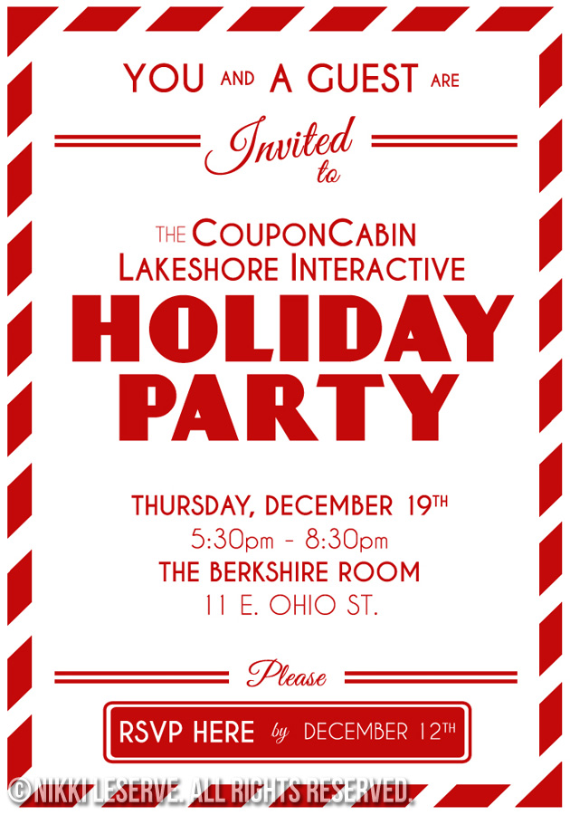 CouponCabin Holiday Party Invite