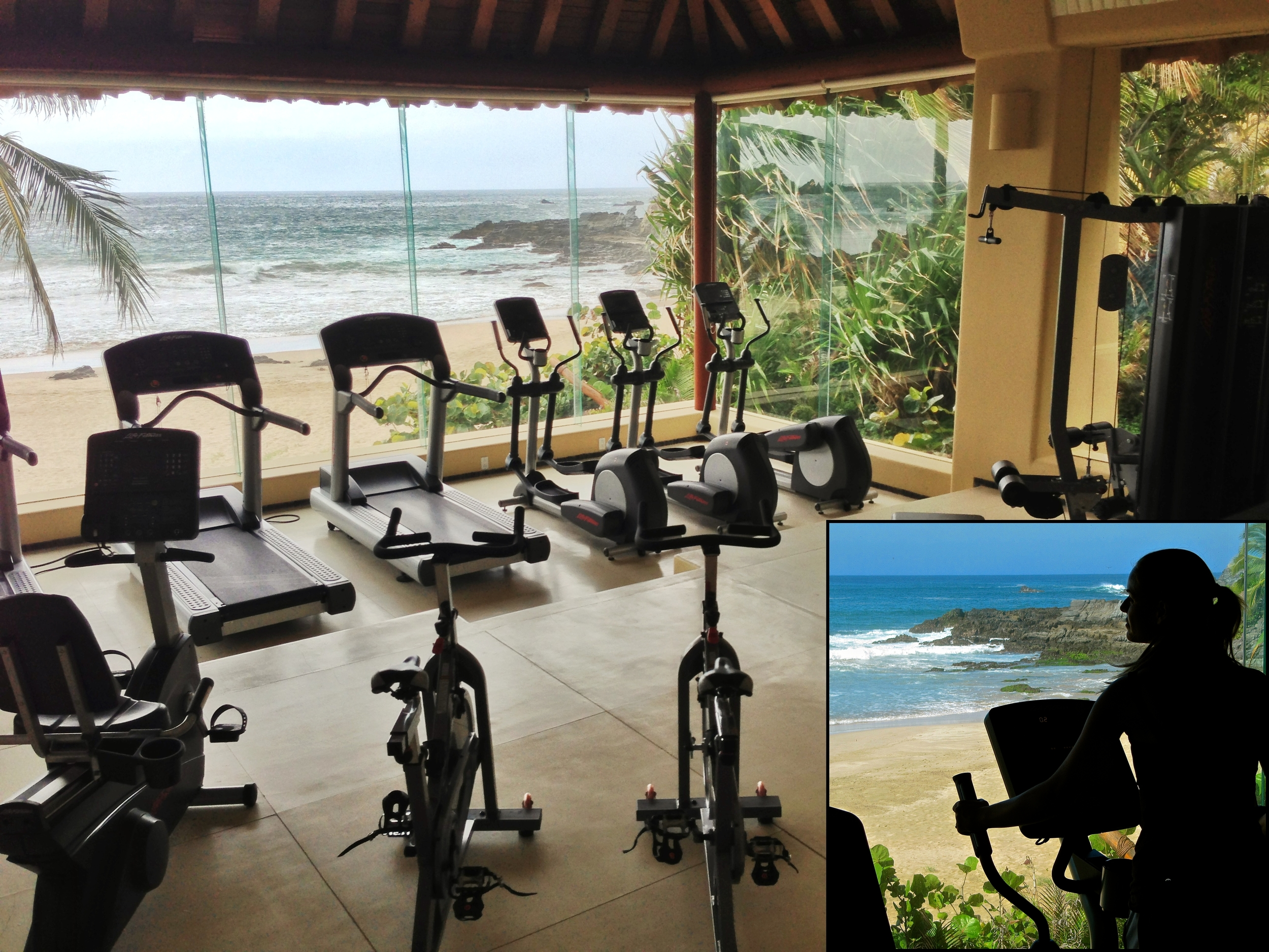 And if exercise indoors is your thing, then you'll love the air-conditioned gym right on the beach.