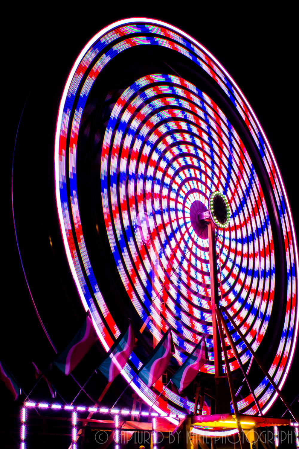 Patriotic Farris Wheel By Captured By Katie Photography, Bonney Lake Photographer