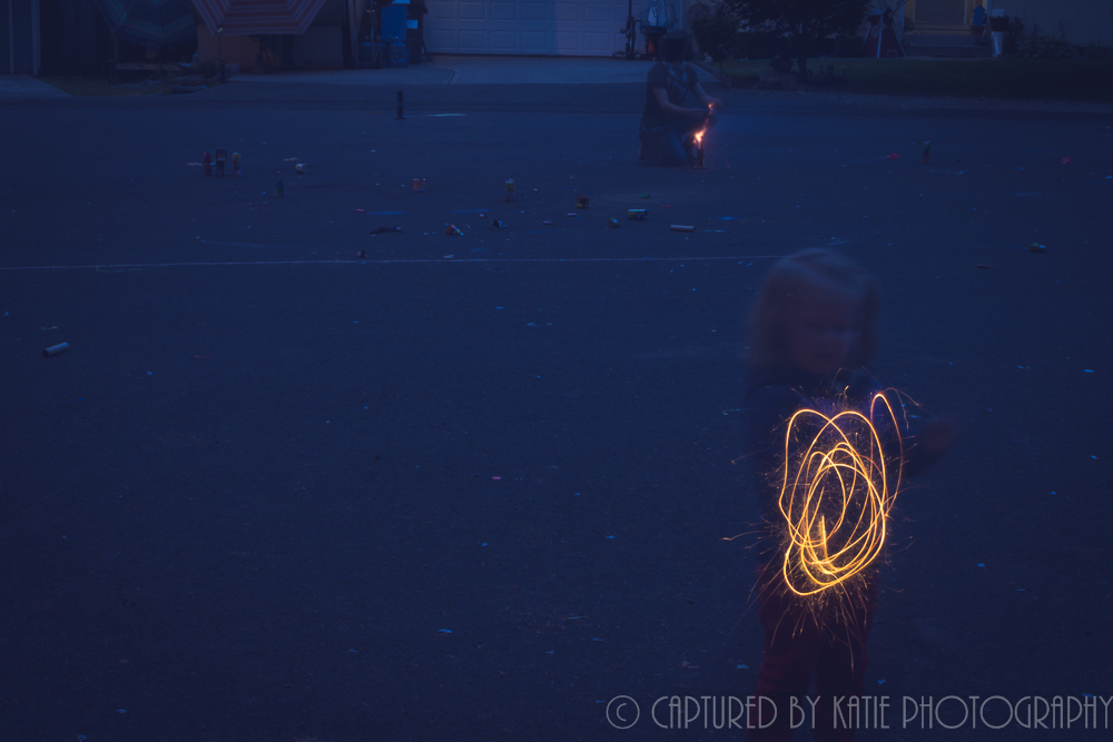 Sparkler by Captured By Katie Photography, Bonney Lake Photographer
