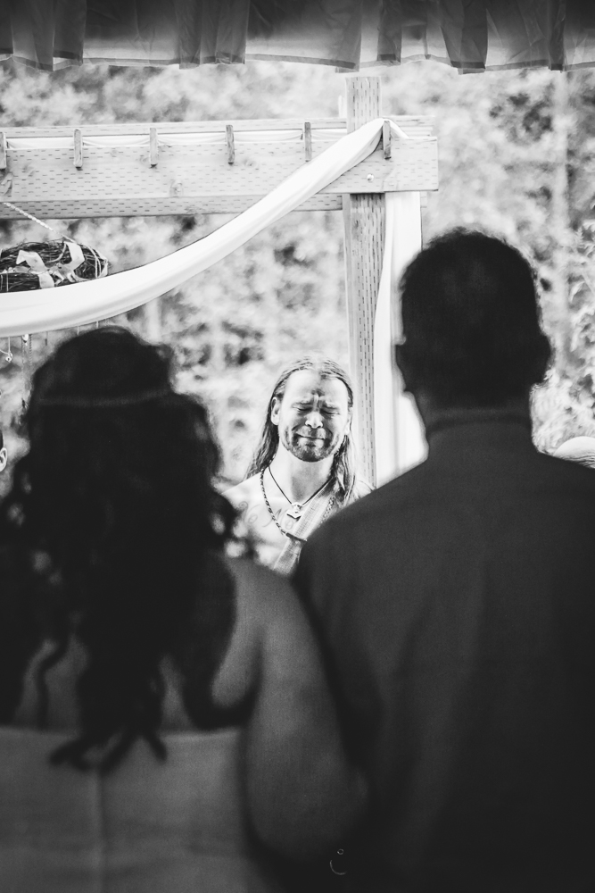 Groom's First Look, Viking Wedding By Captured By Katie Photography, Bonney Lake Photographer
