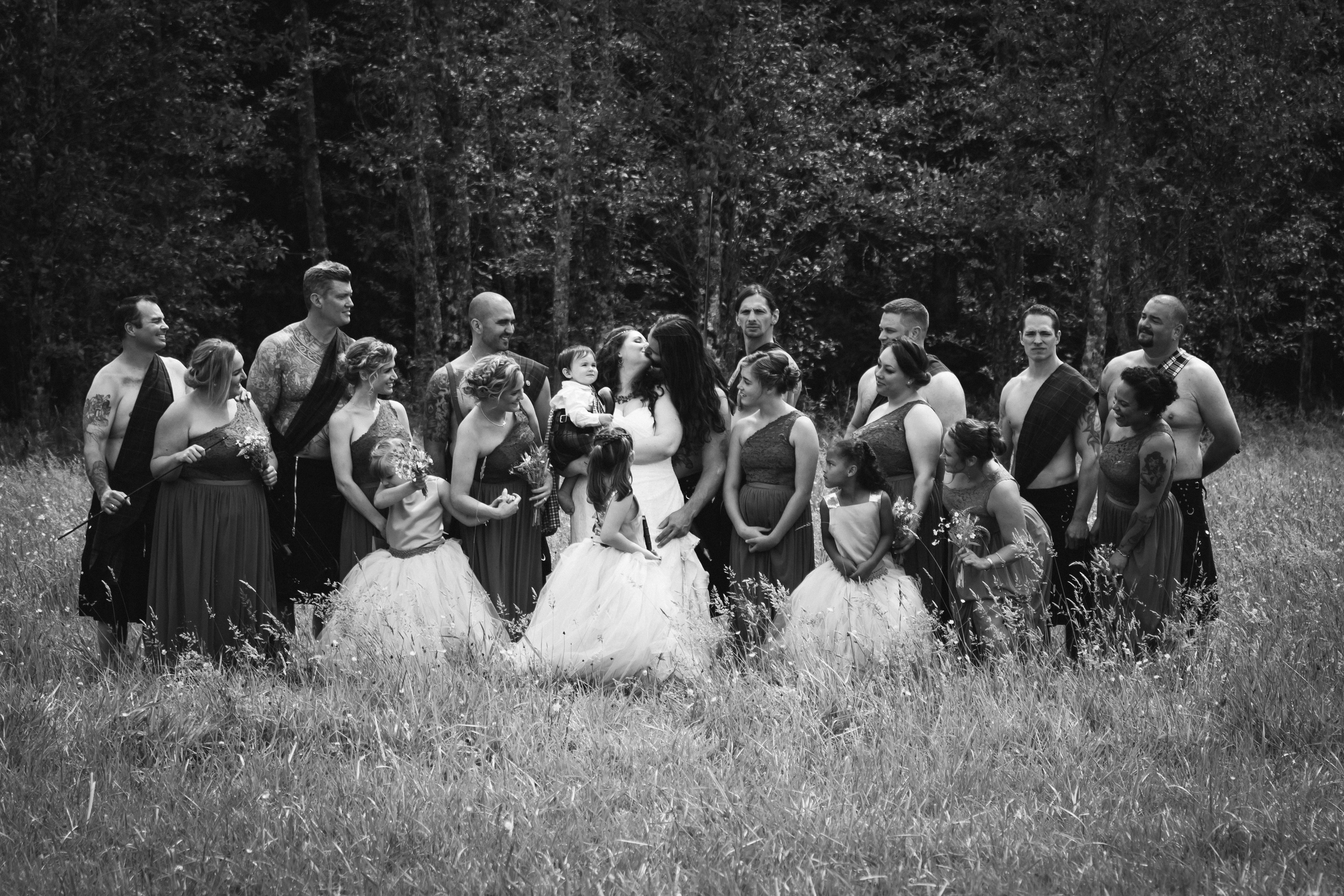 Bridal Party, Viking Wedding By Captured By Katie Photography, Bonney Lake Photographer