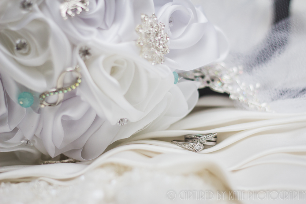 Bouquet, Dress, Rings By Captured By Katie Photography, Bonney Lake Photographer