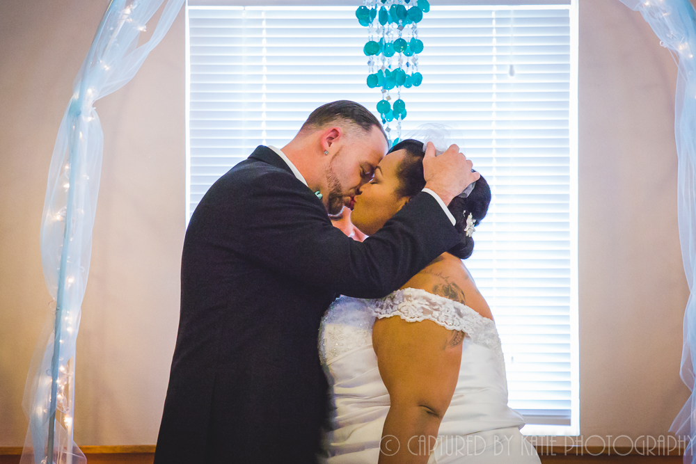 First Kiss By Captured By Katie Photography, Bonney Lake Photographer