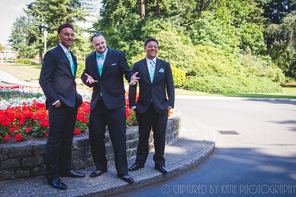 Groom and Nephews By Captured By Katie Photography, Bonney Lake Photographer