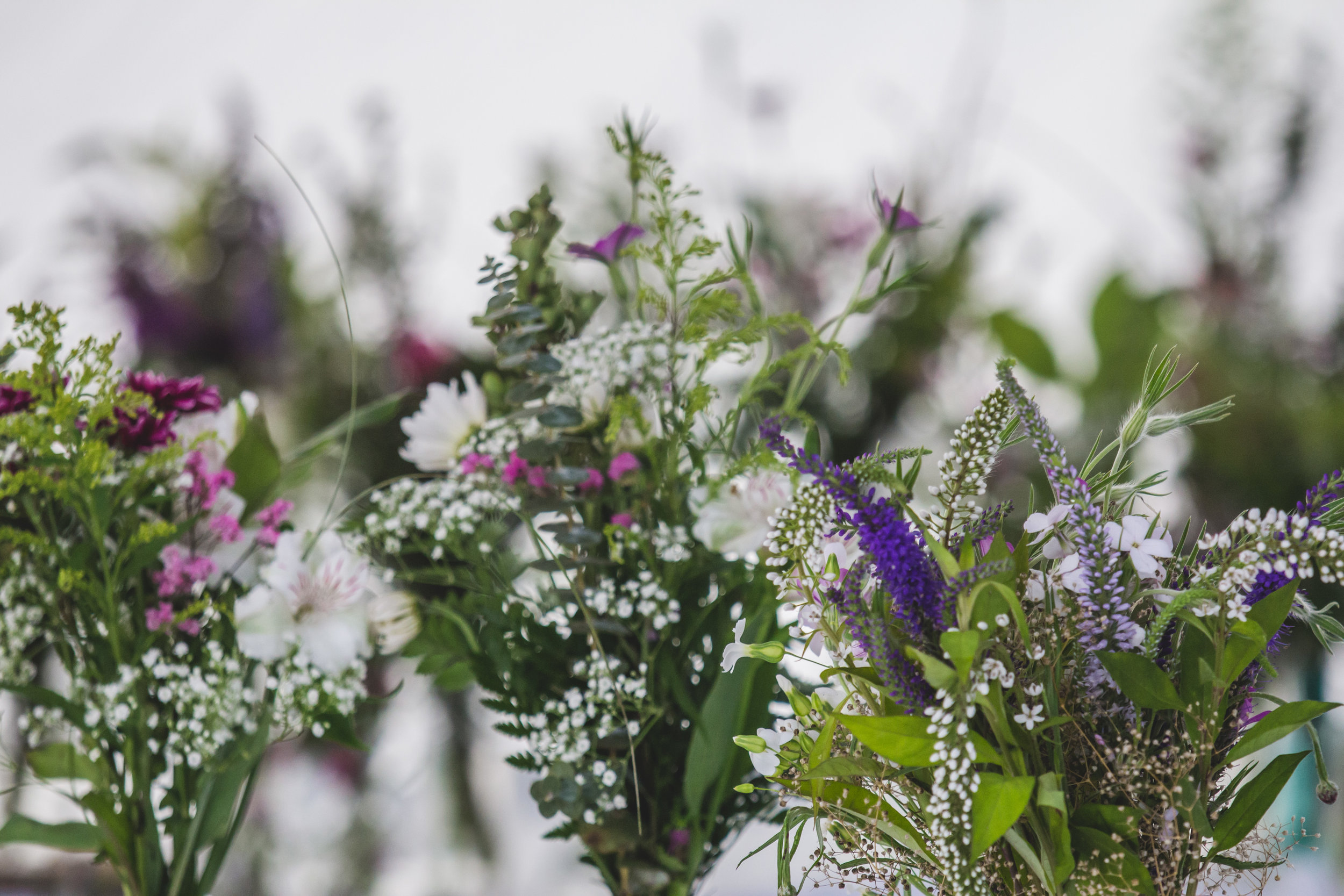 Floral Centerpieces by Captured By Katie Photography, Enumclaw Wedding Photographer