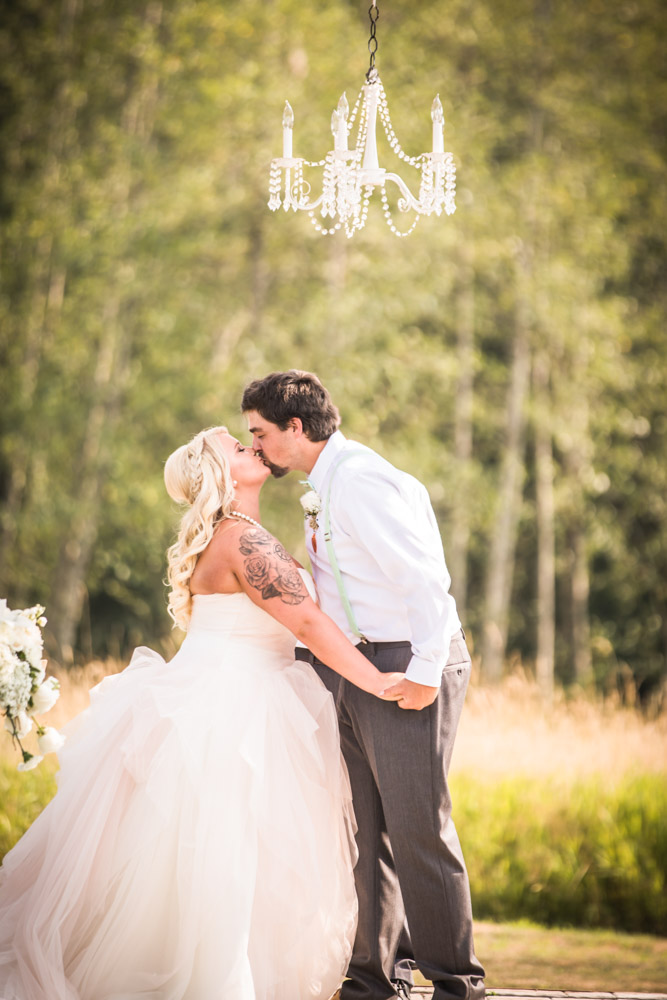 The Kiss By Captured By Katie Photography, Bonney Lake Wedding Photographer