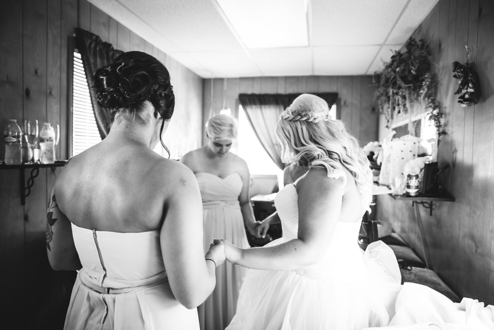 Pre Ceremony Prayer By Captured By Katie Photography, Bonney Lake Wedding Photographer