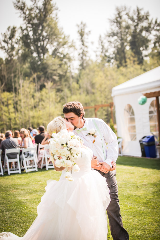 The Kiss Take 2 By Captured By Katie Photography, Bonney Lake Wedding Photographer