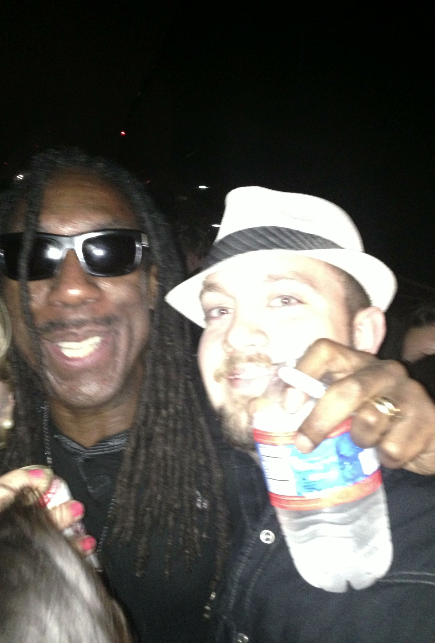 Zach with Dave Matthews Violinist Boyd Tinsley