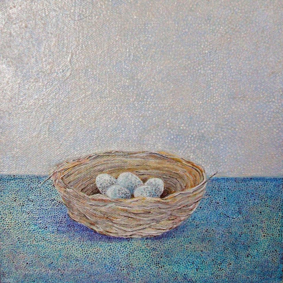 """Nest , acrylic on canvas, 8"""" x 8"""""""