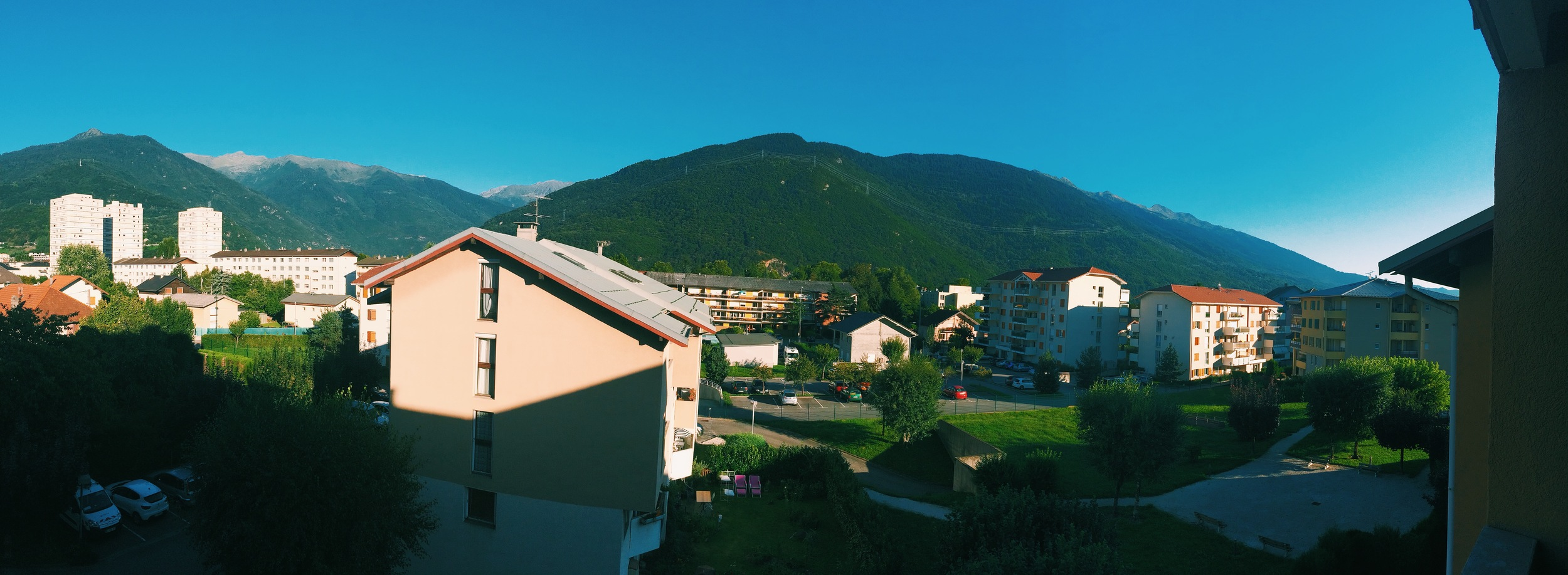 The view from our balcony.