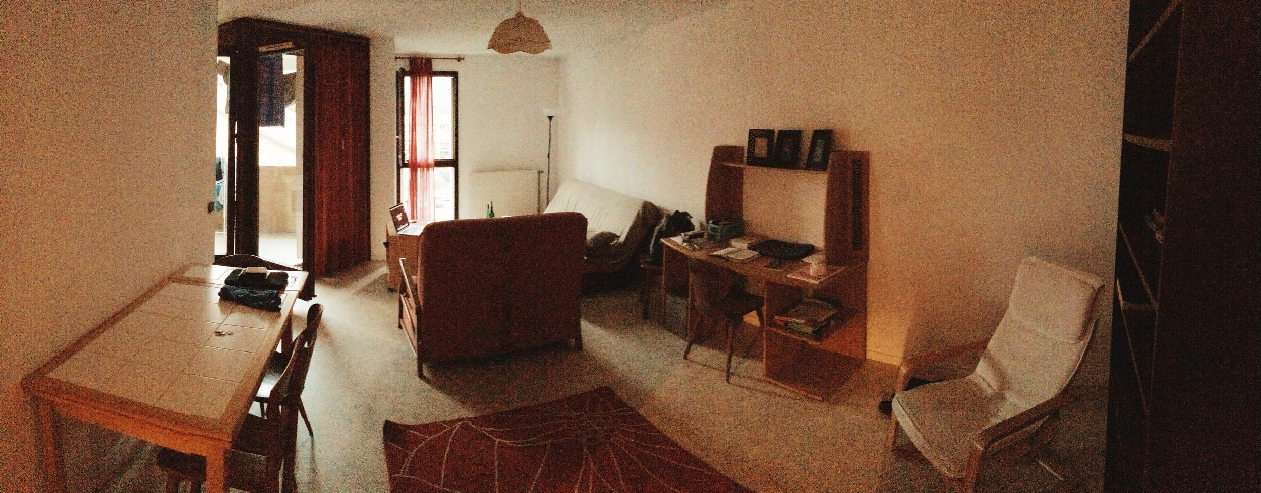 Our dining room, study, and living room.