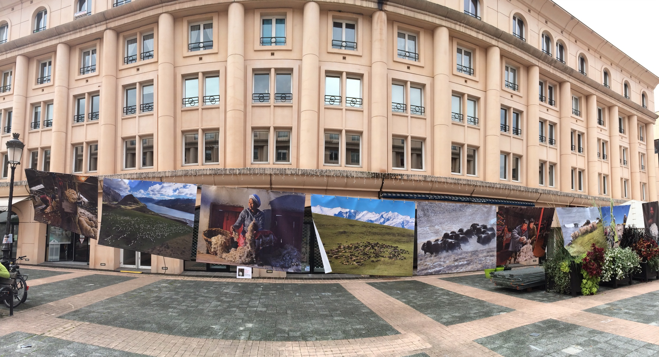 Albertville and some of the surrounded cities have a festival every year to educate people on other parts of the world. In the plaza they had huge photos displayed. It was beautiful!