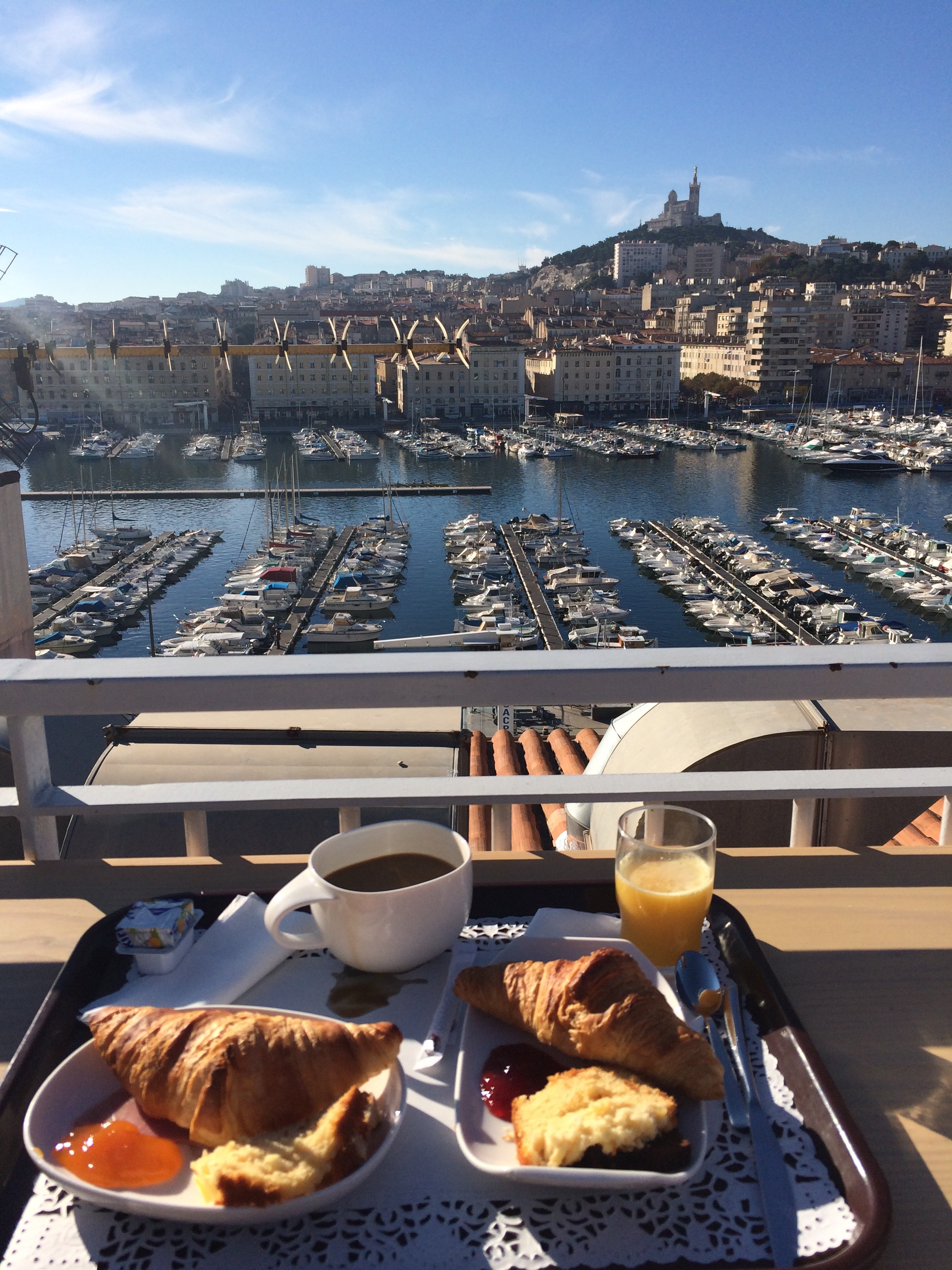 Marseille (view from our hotel during breakfast)