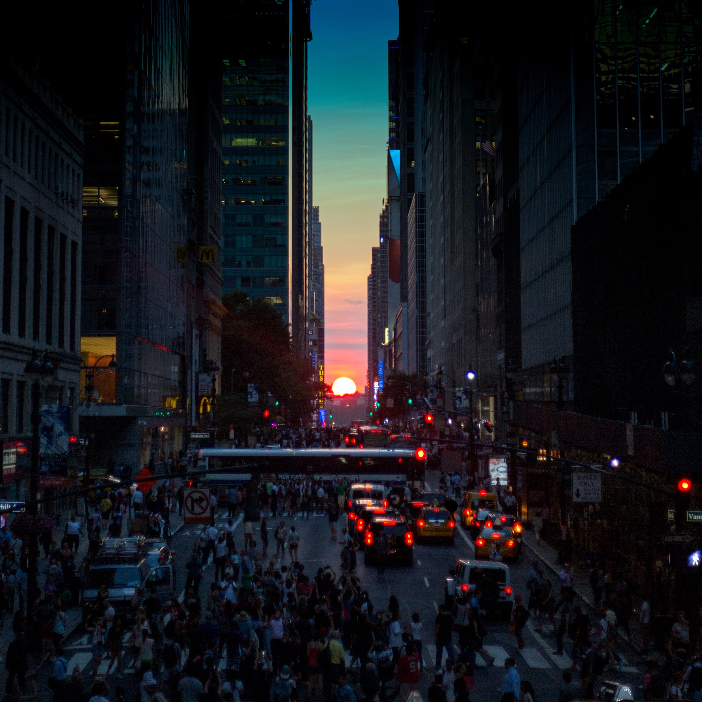 1. ManhattanHenge from the Park Avenue Viaduct,  Grand Central Terminal, NYC
