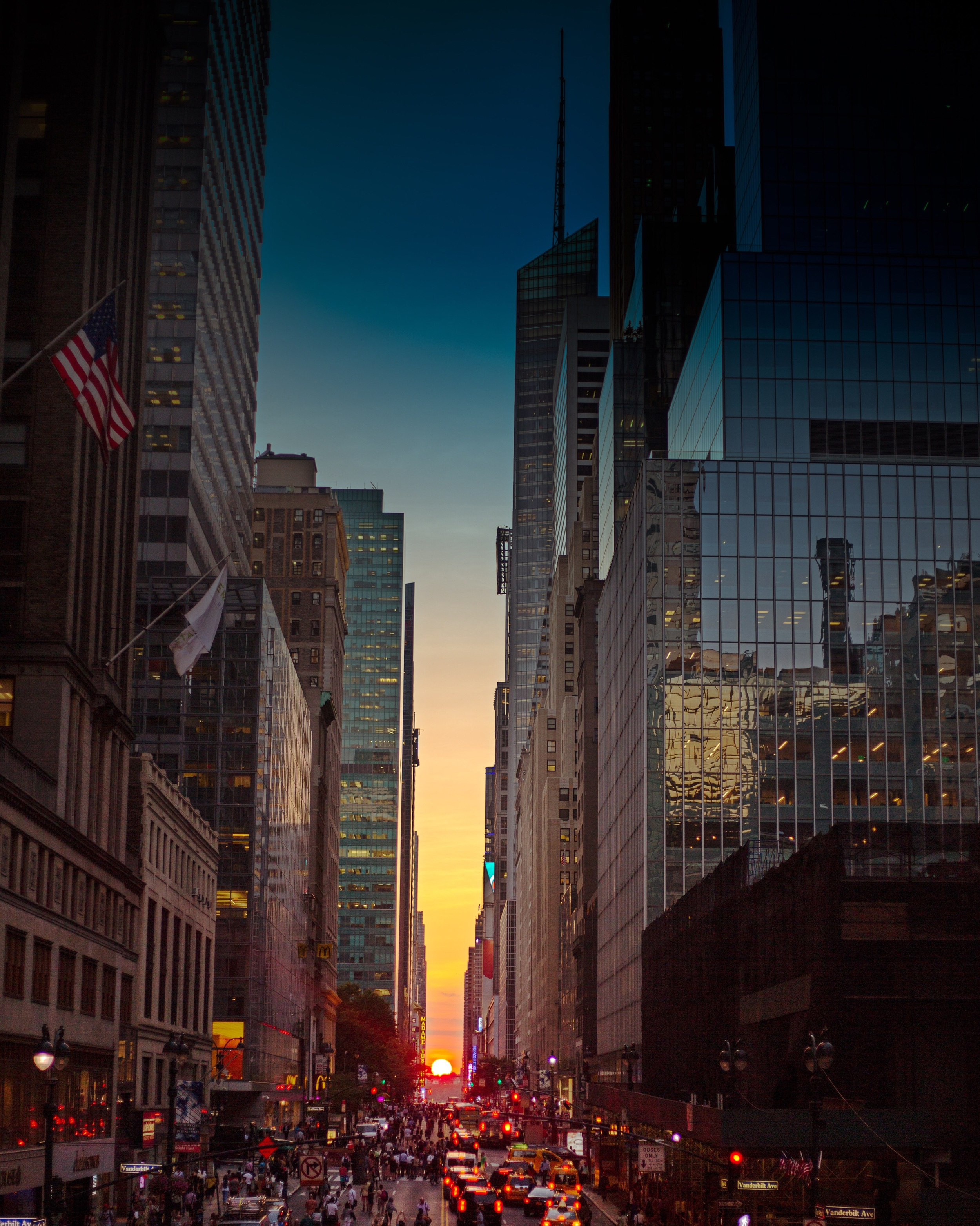 2. Manhattanhenge from The Park Avenue Viaduct, Grand Central Terminal, NYC