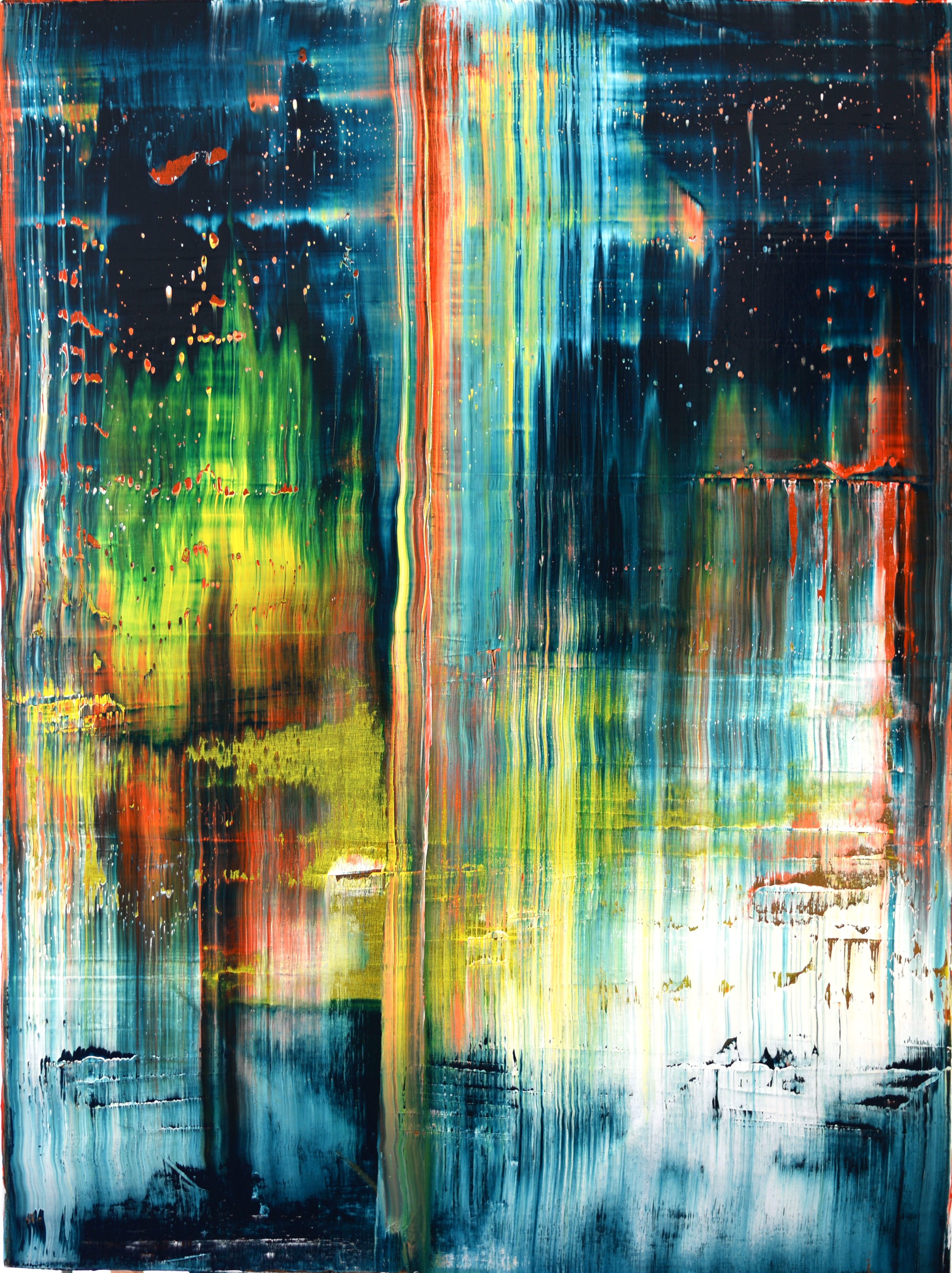 """Within. Without."" is an original, abstract oil painting created by Los Angeles based artist, Laura Viapiano."