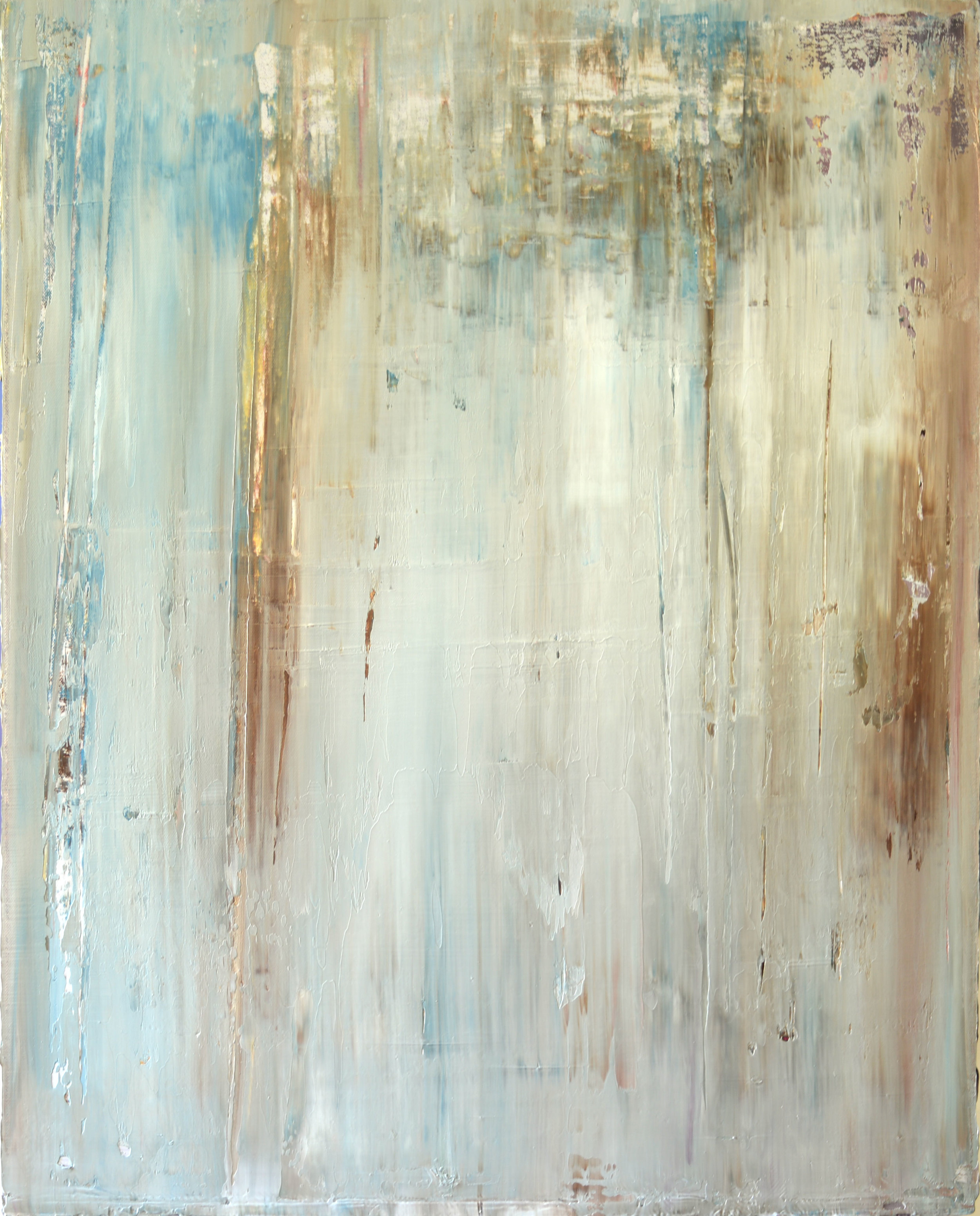 """""""Laguna"""" is an original, abstract oil painting by Los Angeles artist, Laura Viapiano"""