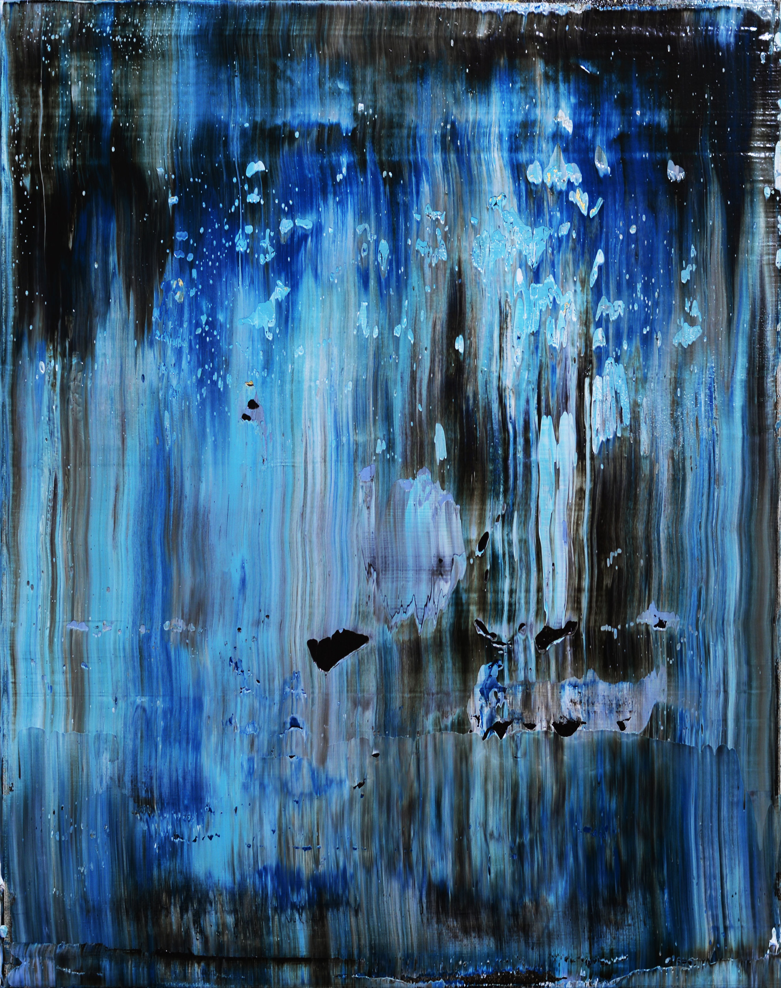 """To Calm a Storm with a Single Breath"" is an original, abstract oil painting by Los Angeles based artist, Laura Viapiano."