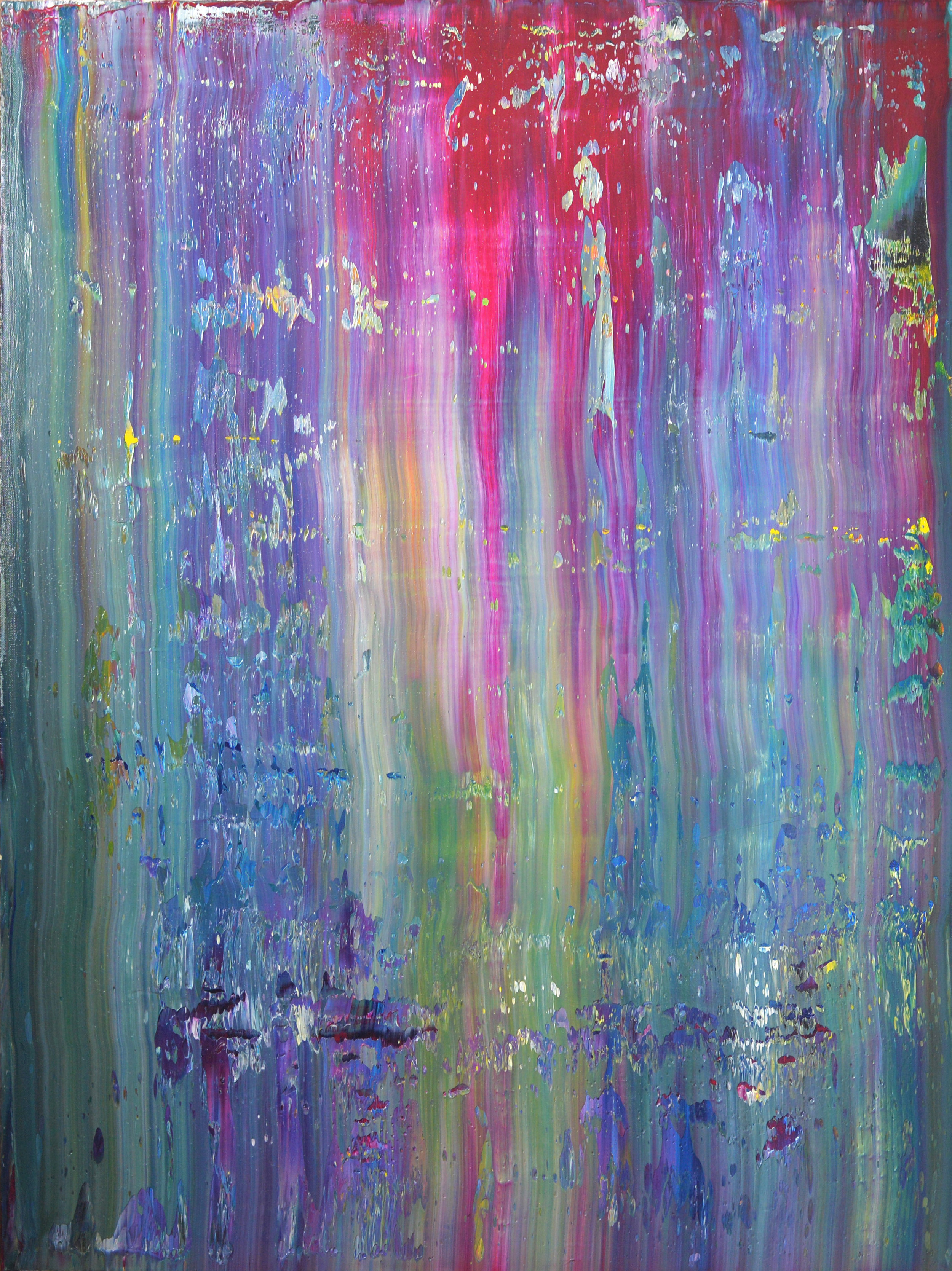 """""""play"""" is an original, abstract oil painting by Los Angeles based artist, Laura Viapiano."""