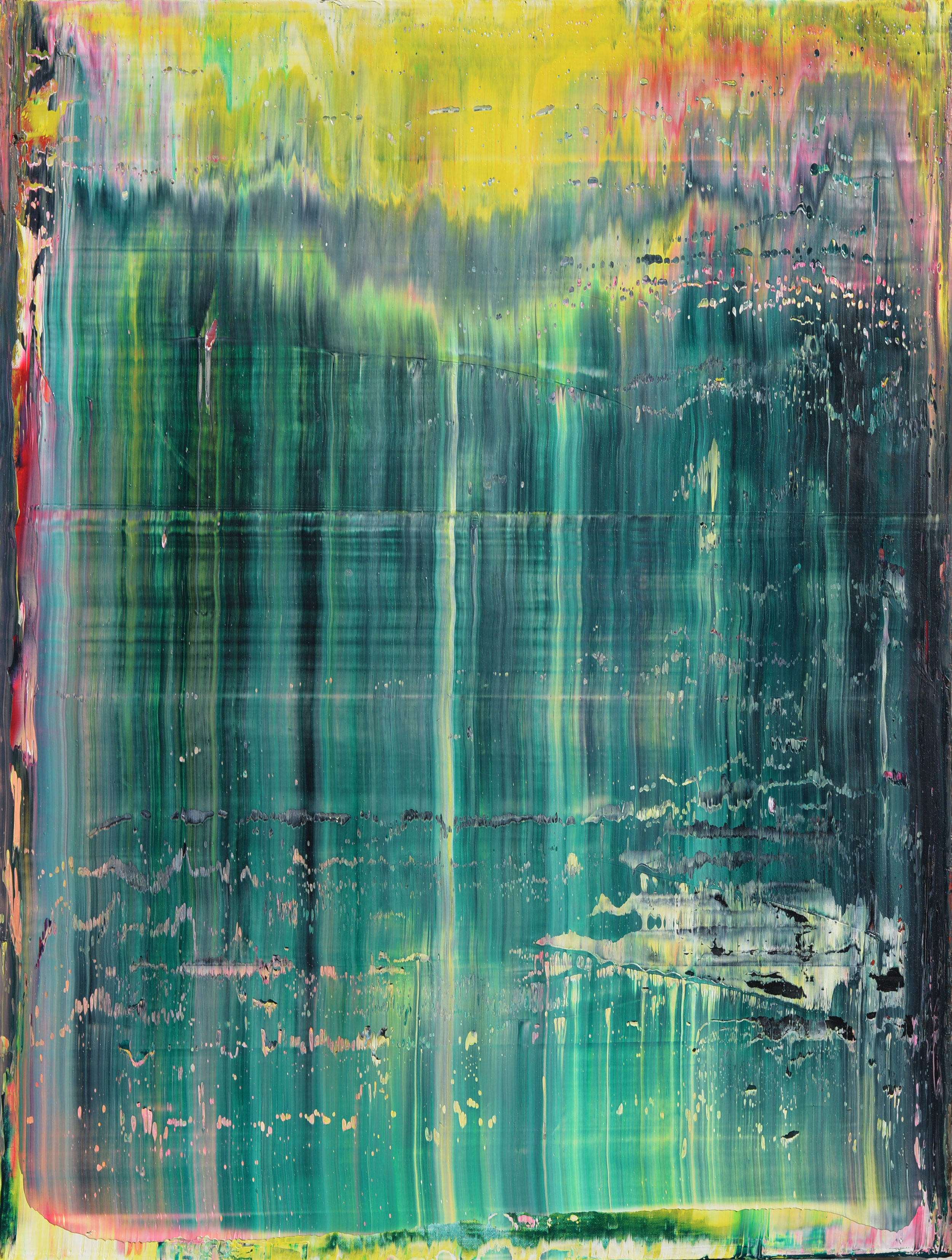 """Inside"" is an original, abstract oil painting by Los Angeles based artist, Laura Viapiano."