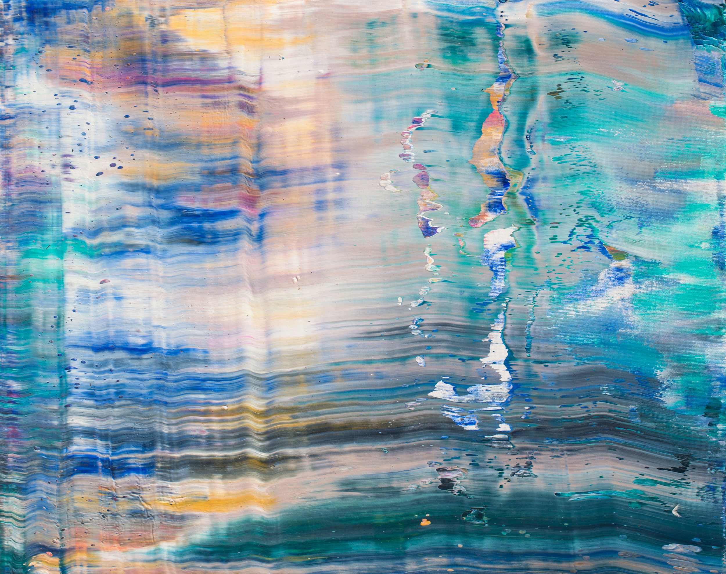 """""""AFTERGLOW"""" Is an original, abstract painting created by Los Angeles based artist, Laura Viapiano"""