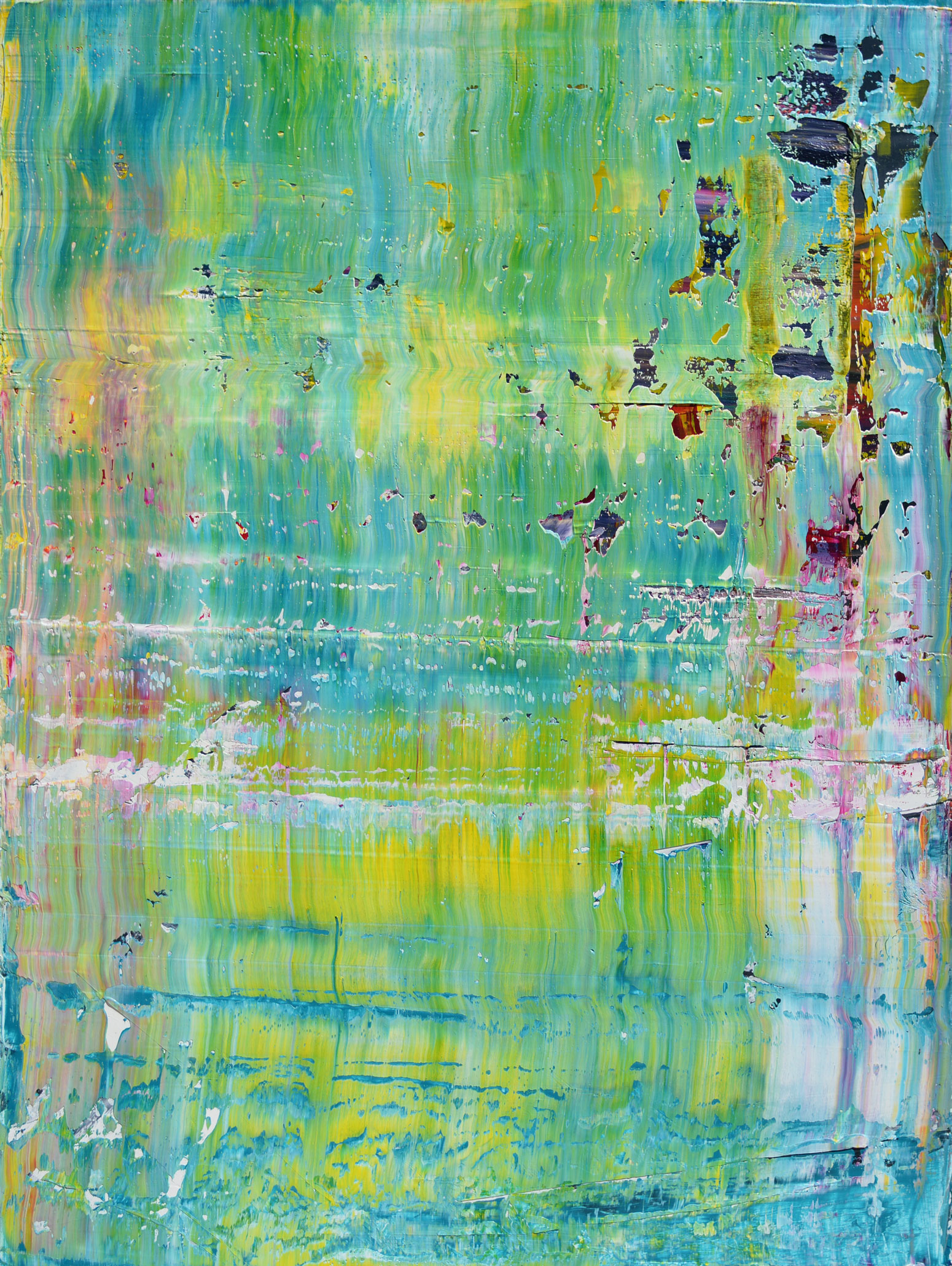 """""""Trip"""" is an original, abstract oil painting by Los Angeles based artist, Laura Viapiano."""