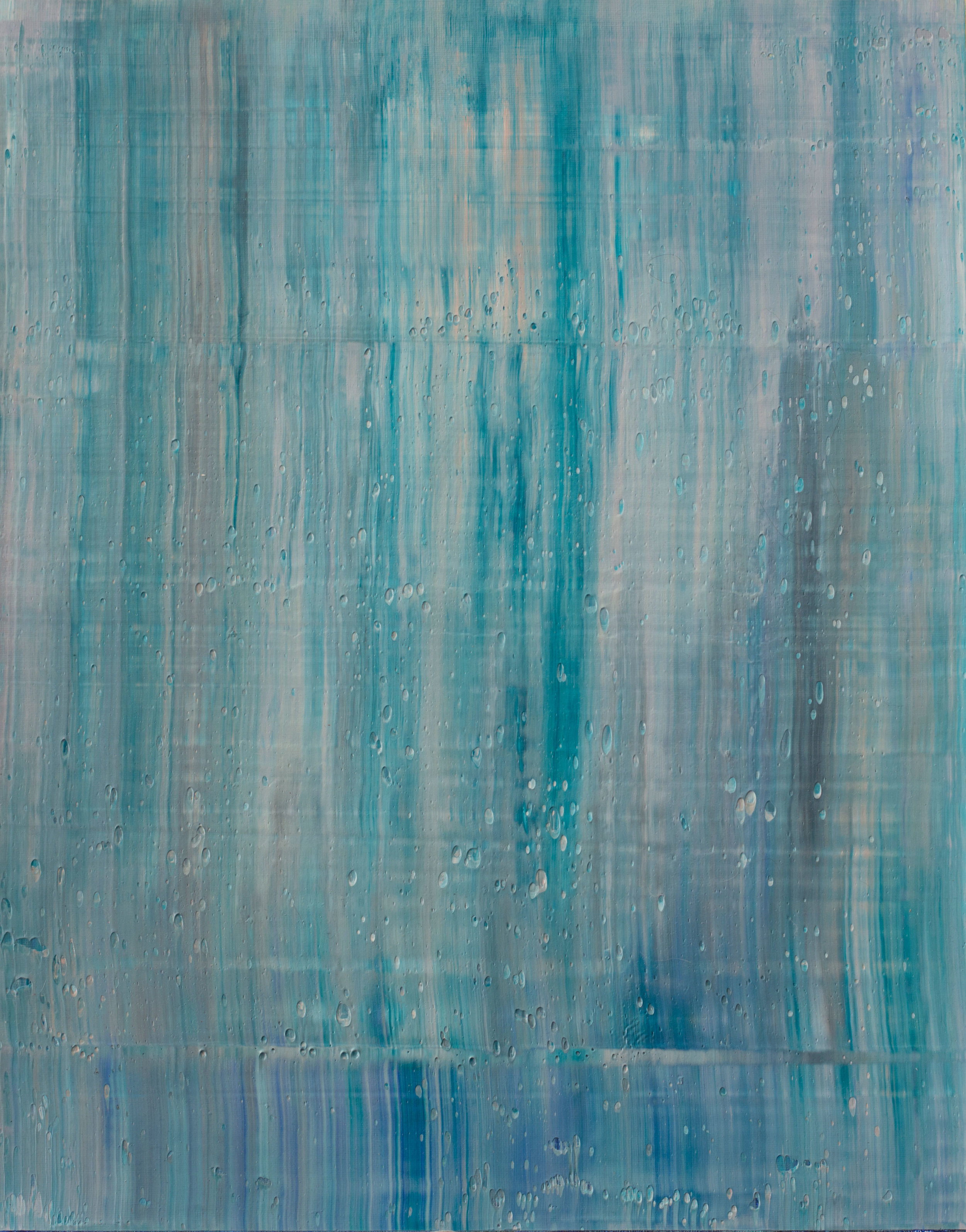 """""""SECOND SUMMER"""" is an original, abstract oil painting by Los Angeles based artist, Laura Viapiano."""