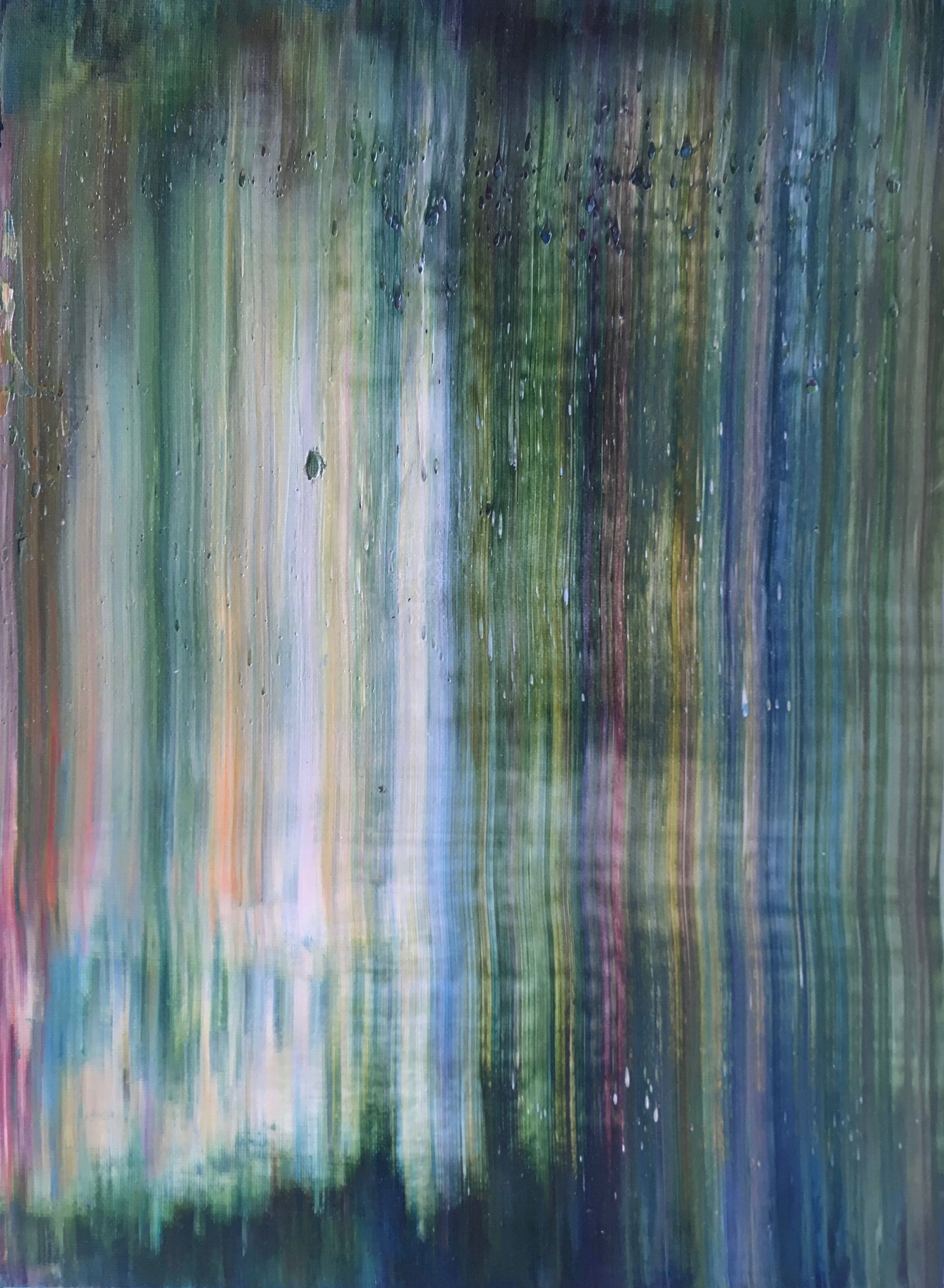 """""""Lush"""" is an original, abstract oil painting created by Los Angeles based artist, Laura Viapiano."""