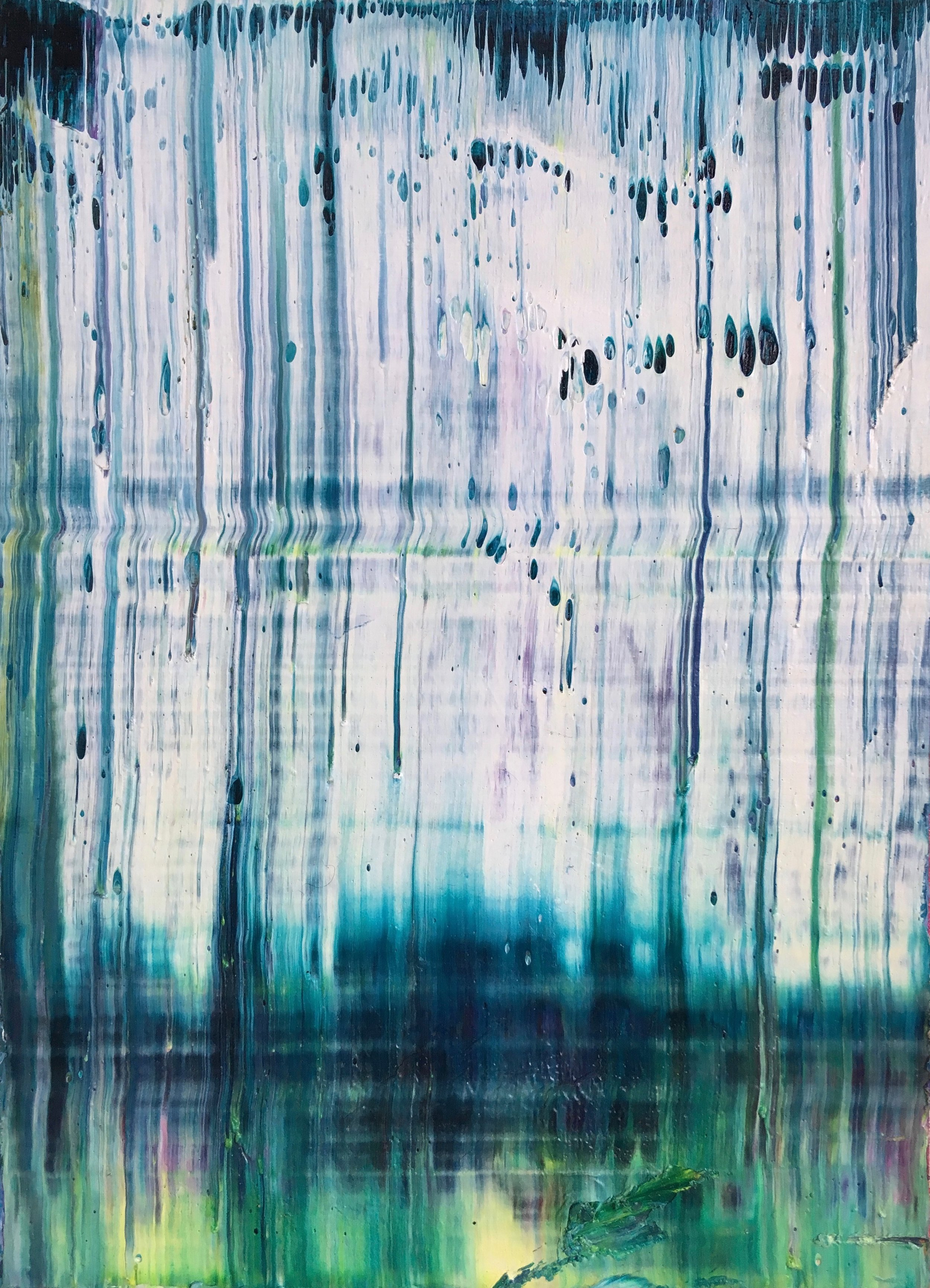 """""""Clean"""" is an original, abstract oil painting created by Los Angeles based artist, Laura Viapiano."""