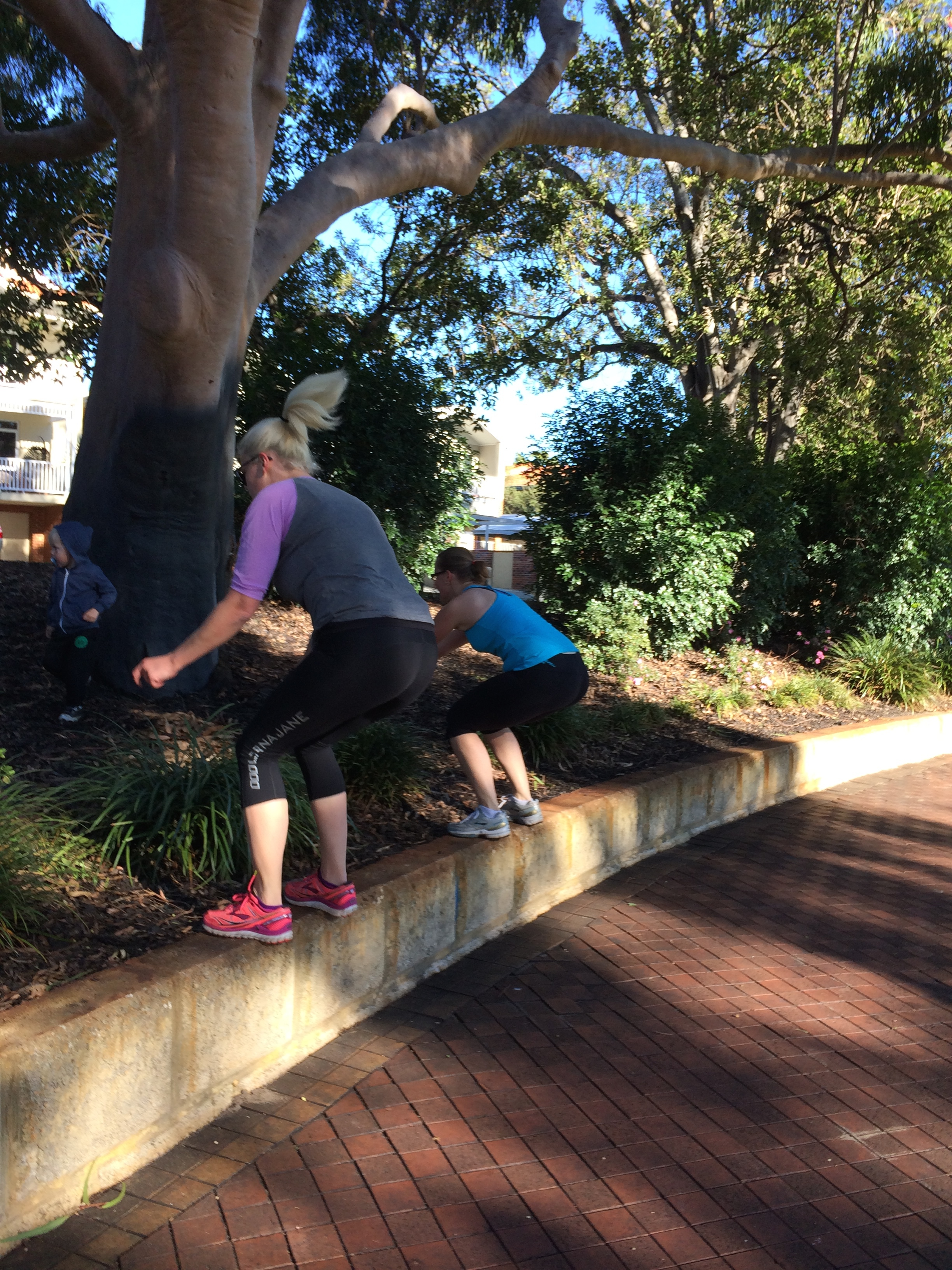 Making the wall jump look easy ladies!