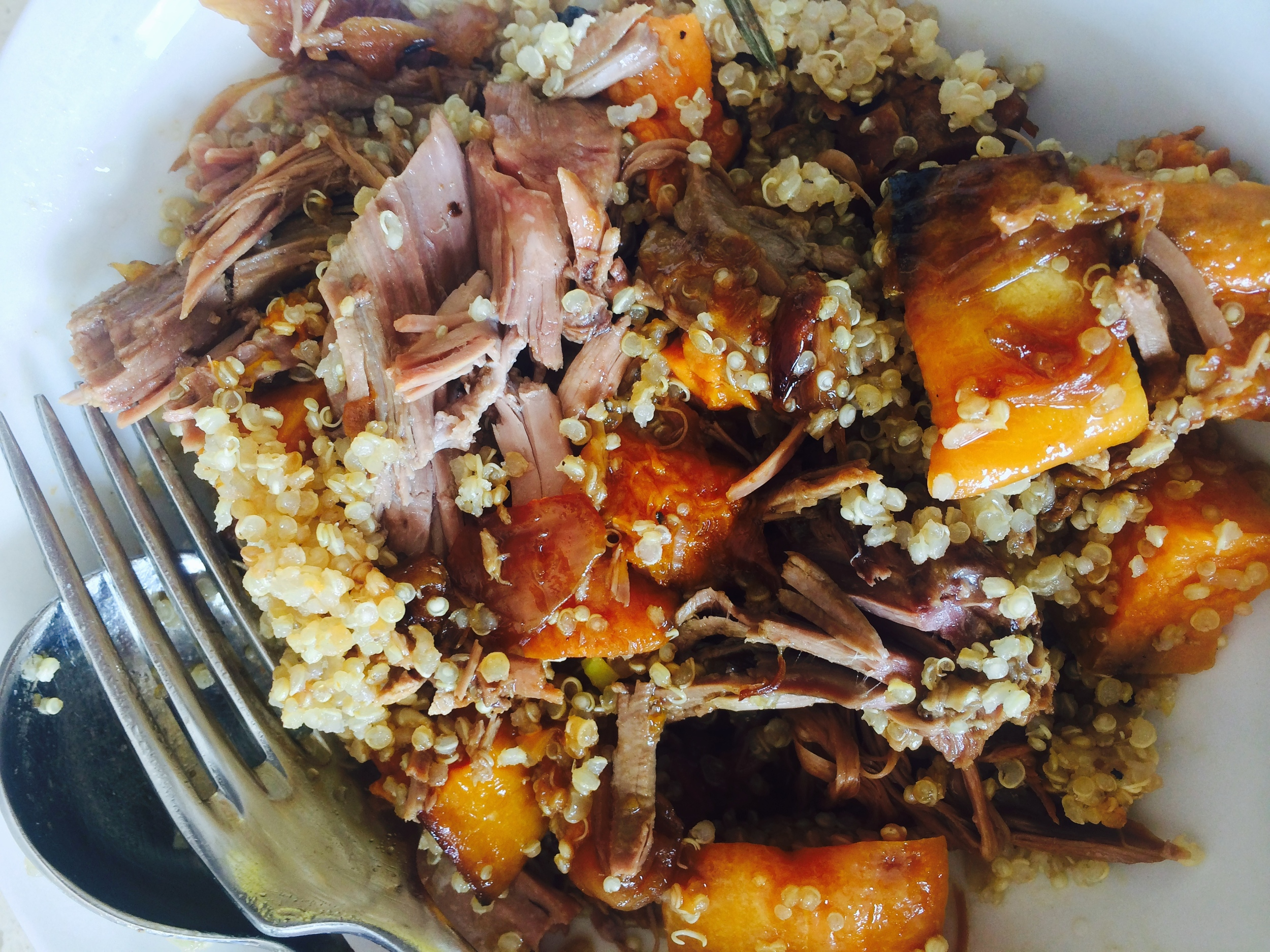 Warm Lamb, Quinoa and Pumpkin Salad