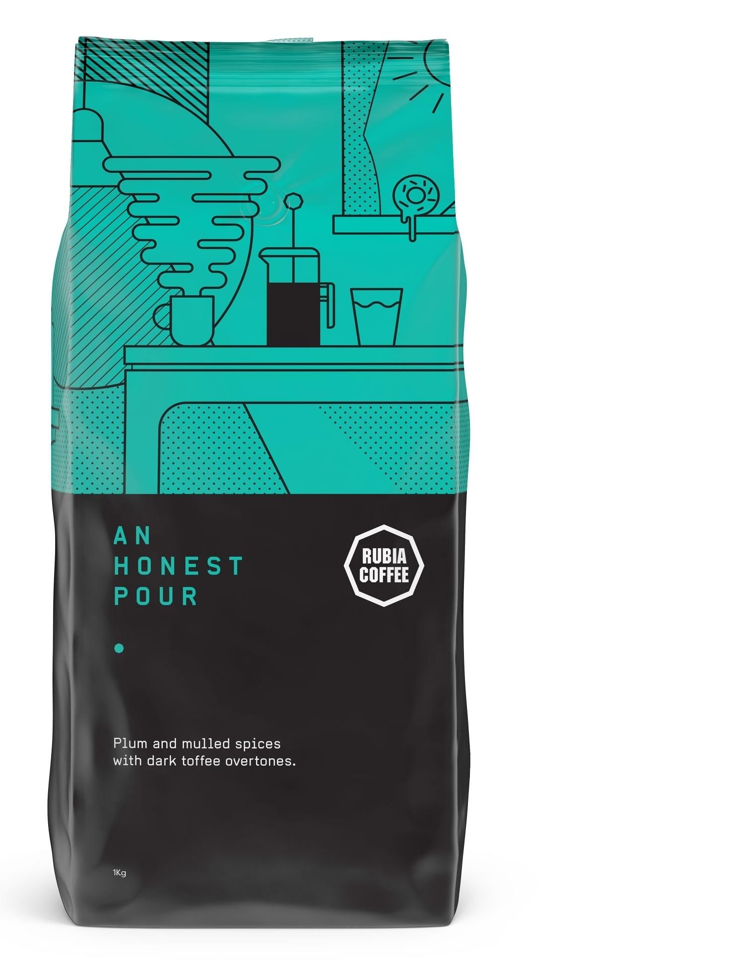 Rubia Coffe An Honest Pour coffee blend