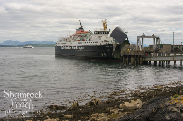 The Calmac Ferry on the isle of Mull...
