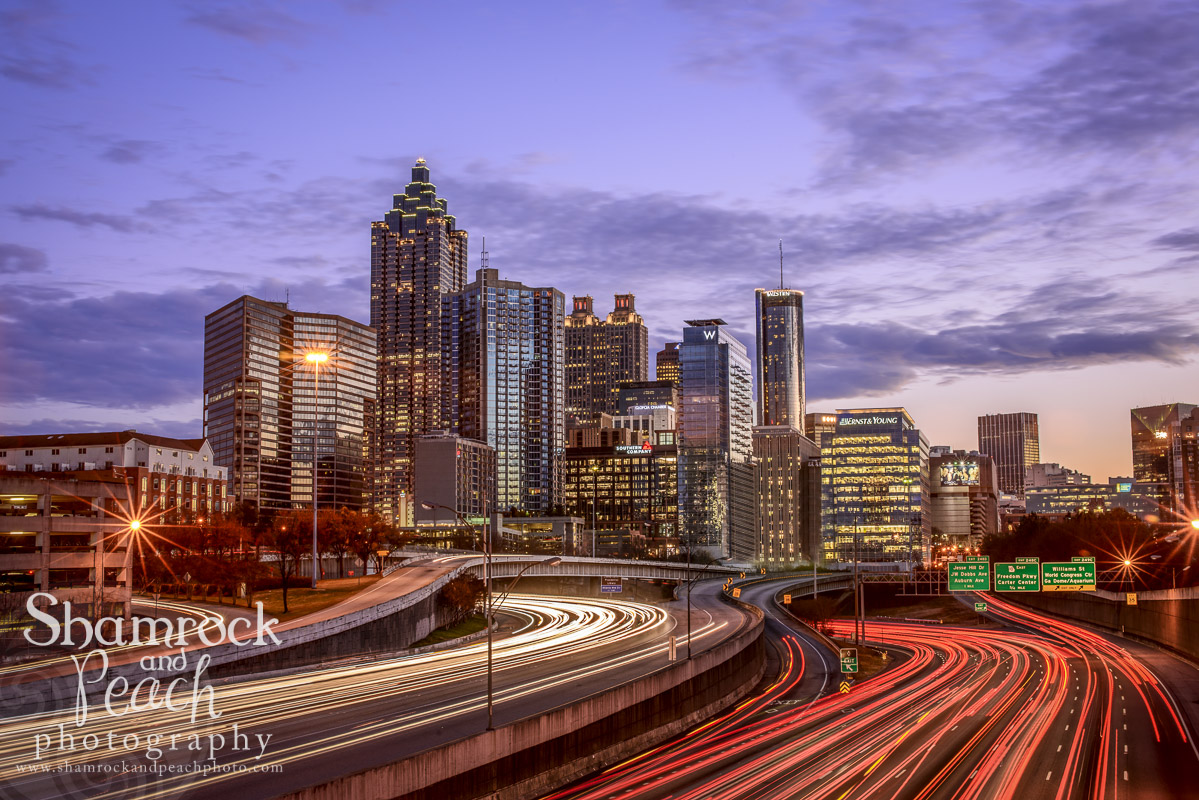 Winter Atlanta skyline